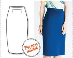 Pencil Skirt Pattern - Skirt Patterns - Sewing Tutorials - Skirt Pattern - PDF Sewing Patterns - Sewing Projects - Sewing Patterns