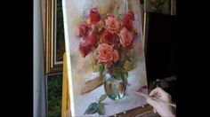 """Вчерашние розы"". Yesterday's roses. Process of creating oil painting fr..."