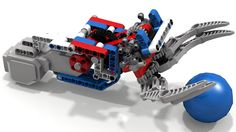 "https://flic.kr/p/vMs8SL | Lego EV3 Clamp-N-Lift by tingeypa | This Lego Mindstorms EV3 ""Clamp-N-Lift"" grabber claw can CLAMP onto an object (like a ball) then LIFT it off the ground using a single motor.  Tingeypa's dual-action original design (as shown on www.us.lego.com/en-us/mindstorms/community/robot?projecti... ) was designed for a Lego NXT Motor, but this one here uses an EV3 Large Motor.  See the YouTube video www.youtube.com/watch?v=qYbEsNs0ZiI#t=67 to see how the mechanis..."