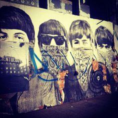 Beatles street art in LA