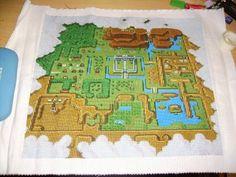 Zelda map to needlepoint