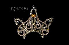 GOLD!  Ballroom hair accessories and ballroom jewelry made with Swarovski, available at www.tzafora.com © 2014 Tzafora