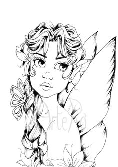 fairy coloring page the art therapy more