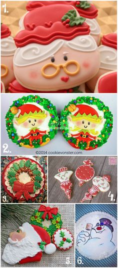 Christmas in July Cookie Collage-A Fun New Tradition Using Your Cookies via www.thebearfootbaker.com