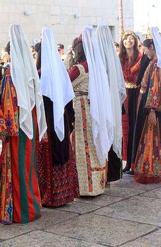 Palestinian traditional dresses.