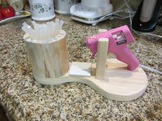 Glue Gun Holder No Mess Great For Any Crafter Unique One Of A Kind
