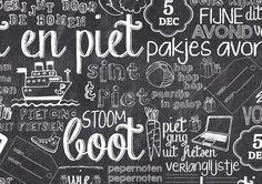 Cadeaupapier Sint krijtbord - twentysomethin.nl