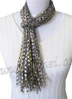 Free pattern for ribbon yarn scarf, ribbon scarves. Scarf Patterns, Knitting Patterns, Crochet Patterns, Crochet Ideas, Ribbon Yarn, Ruffle Yarn, Ribbon Crafts, Yarn Crafts, Free Crochet