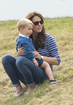 Duchess Kate Shows Off Post-baby Body in Skinny Jeans During  Polo Playdate With Prince George June 14, 2015