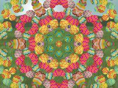 Easter egg kaleidoscope