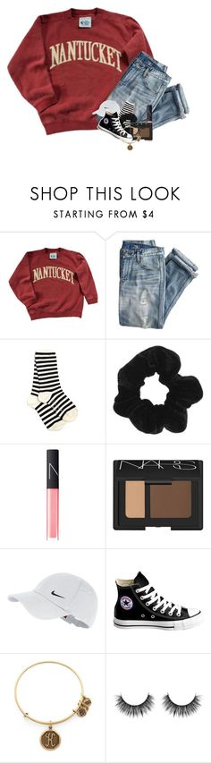 """""""it snowed and they didn't delay/cancel school"""" by kendallmichele ❤ liked on Polyvore featuring J.Crew, Yohji Yamamoto, Topshop, NARS Cosmetics, NIKE, Converse and Alex and Ani"""