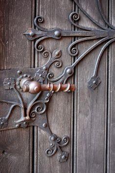 Door hardware detail
