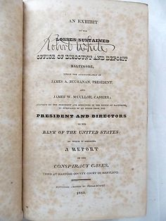 1823 Exhibit of Losses at Office of Discount by ourtimecapsule