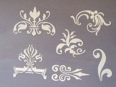 Raised Plaster Small Designs 2 Stencil Set by VictoriaLarsenDecor, $17.99