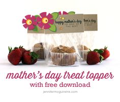 Mother's Day idea; a muffin for a Mother's day breakfast in bed.