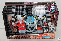 Monster High Plush Meowlody Purrsephone Exclusive Werecat Sister 2 Pack NIP