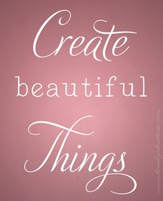 Create Beautiful Things via *Lovely Clusters - The Pretty Blog: