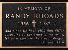 TRIBUTE TO RANDY RHOADS