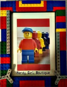 Custom LEGO Picture Frame 4x6 or 5x7 Photo Gift Superhero *Proceeds tMake A Wish #Lego