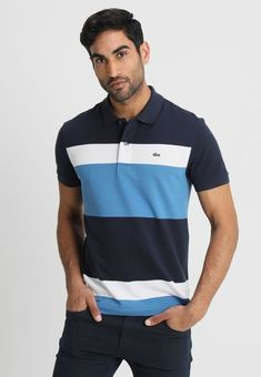 d48a8aacd Lacoste Polos Men abyssal blue/medway-white REGULAR FIT - Polo shirt Sell  Well