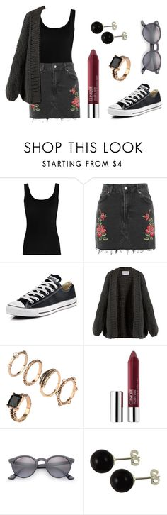 """""""Untitled #349"""" by fashion-with-dudette on Polyvore featuring Twenty, Converse, I Love Mr. Mittens, Clinique and Ray-Ban"""