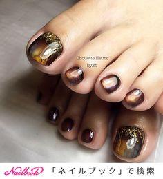 Chouette Heure☆ in 2020 Toenail Art Designs, Fancy Nails Designs, Pedicure Designs, Diy Nail Designs, Colorful Nail Designs, Beautiful Nail Designs, Chic Nails, Love Nails, Trendy Nails