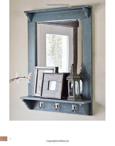 Lovely Entry Mirror with Hooks