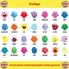 Feelings vocabulary