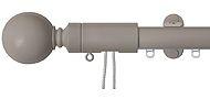 Renaissance 28mm Distinction Corded Metal Curtain Pole Light Grey, Sphere