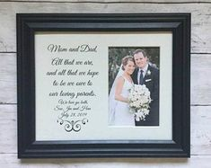 Personalized Parents of the Bride & Groom Picture Frame Parents Wedding Frame Parent Wedding Gift The Wedding Date, Wedding Guest Book, Gift Wedding, Fall Wedding, Wedding Ideas, Wedding Picture Frames, Wedding Frames, Bride Sister, Father Of The Bride