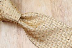 NWT New Daniel Cremieux Signature Collection Gold Brown Weave mens Silk Tie #DanielCremieux #NeckTie