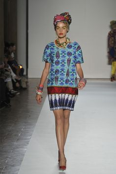 Stella Jean Milano - Spring Summer 2013 Ready-To-Wear - Shows - Vogue. African Inspired Clothing, African Print Fashion, Ethnic Fashion, Urban Fashion, African Prints, Couture, Mode Wax, Designer Party Dresses, Afro Style