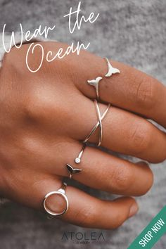 Life isn't perfect, but your summer outfit can be. Wear our Boho inspired rings to your favorite beach on a summer day or feel the beach vibes all year round. You can contribute in saving our ocean by purchasing from us! Visit atoleajewelry.com to know more.