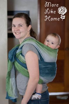 More Like Home: How I Dyed a Wrap {and what I learned for next time}
