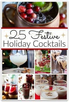 Tis' the season to be...partying with these festive holiday cocktails! I enjoy having friends over to celebrate the holidays, and I always want to have a festive atmosphere.