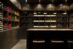 House of Wine at three on the bund NeriHu Neri And Hu, The Bund, Wine Label, Wine Cellar, Liquor Cabinet, Restaurant, Storage, Bar, House