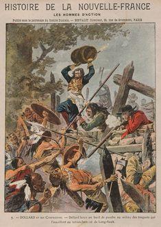 Adam Dollard des Ormeaux au combat de Long Sault contre les Iroquois. Mai 1660