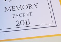 Family memory packet with printable plus 3 other ideas - new years eve