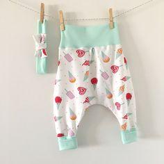 Ensemble sarouel glaces rose pour bébé