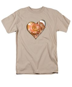 Heart Of A Rose - Gold Bronze T-Shirt featuring the art of Carol Cavalaris. Available in different styles, colors, and sizes.