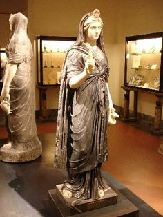Statue of priestess of Isis, from the Temple of Isis, Pompeii