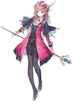 Rorolina Frixell Concept Art - Atelier Lulua: The Scion of Arland Art Gallery Girls Characters, Fantasy Characters, Female Characters, Anime Characters, Female Character Design, Character Concept, Character Art, Concept Art, Chibi