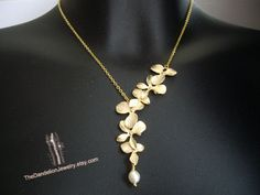 SALE 10 OFF Asymmetrical flowers cascade by Thedandelionjewelry, $23.50
