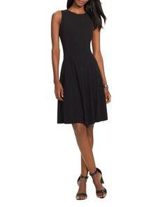 Lauren Ralph Lauren Sleeveless Fit and Flare Dress | Bloomingdale's