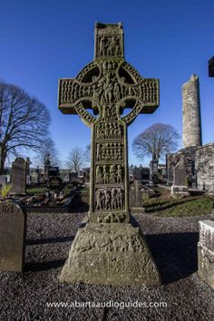A diagram of the symbology found in a traditional irish celtic cross tombstone. Celtic Symbols, Celtic Art, Celtic Crosses, Statues, Culture Art, Celtic Culture, Irish Roots, Cemetery Art, Irish Celtic