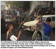 Palestinian celebration of American deaths on 9/11/2001.