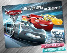 Cars 3 Invitation Invite Birthday