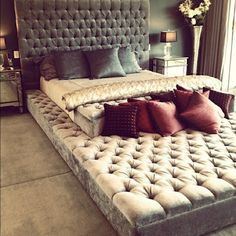 holy moly tufted bed couch. amazing.