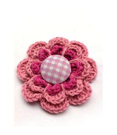 Crochet Flower Brooch, Pretty in Pink, Gift for her, wedding favor via Etsy