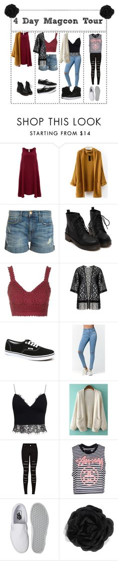 """""""4 Day Magcon Tour"""" by draaayya ❤ liked on Polyvore featuring Finery London, Current/Elliott, Topshop, Zizzi, Vans, Bullhead Denim Co., AX Paris, Stussy, Accessorize and Supra"""